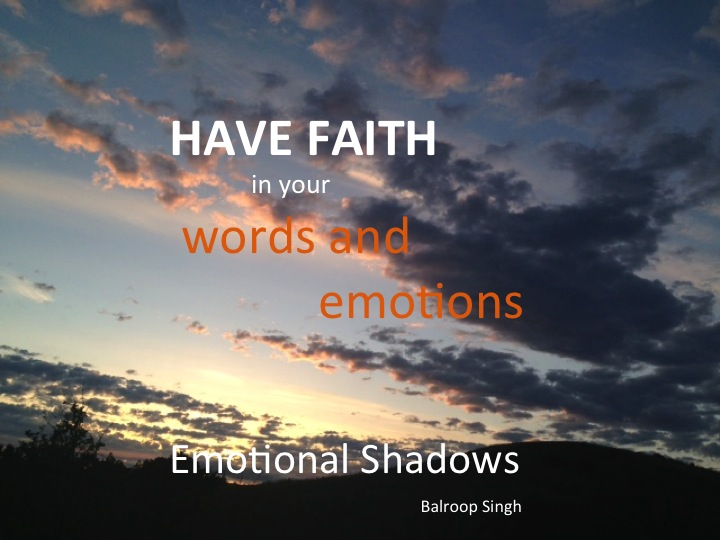 Faith in words & emotions